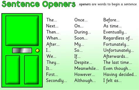 Interesting Angles by Sentence Openers Jan Preston S Blog