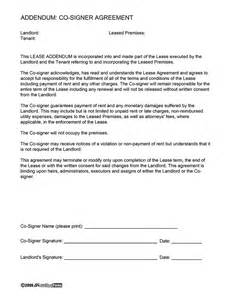 Rental Agreement Guarantor Letter Lease Co Signer Agreement Ez Landlord Forms