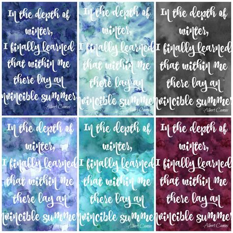 free printable quotes pdf free printable watercolour winter quote signs the happy