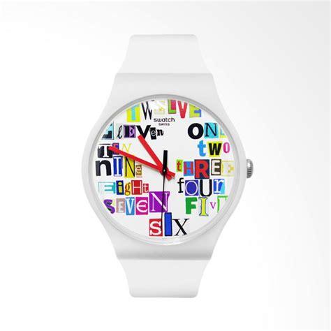 Jam Tangan Rubber Swatch Hitam Fullset harga swatch jam tangan pria hitam putih rubber