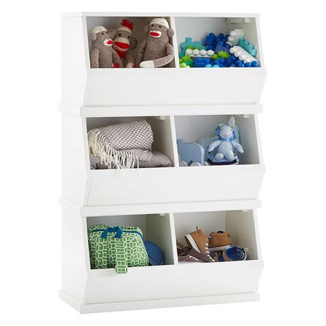 stackable storage white nantucket stackable storage bin the container store