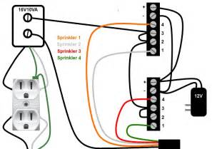 extension cord wiring diagram one side of the transformer goes to the sprinkler bundle common