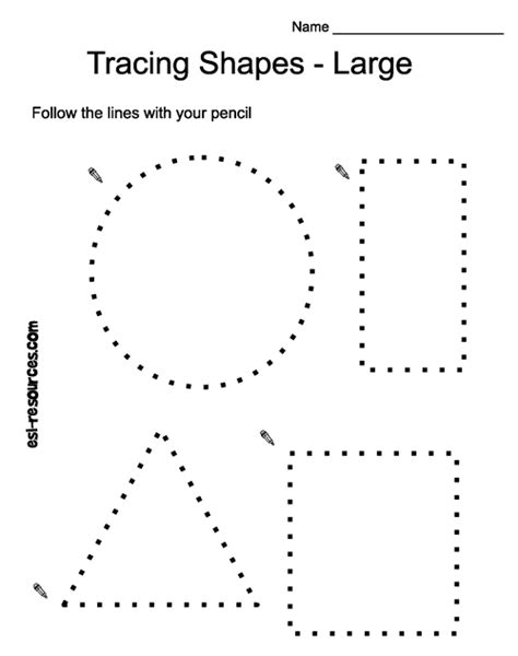 shape tracing templates tracing shapes free classroom crafts