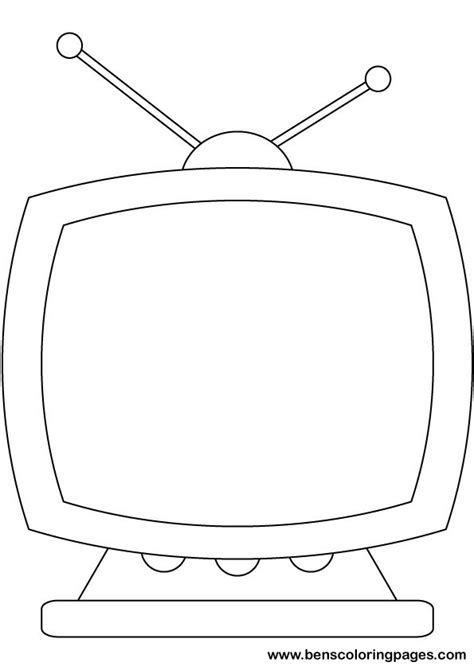 free coloring pages of tv