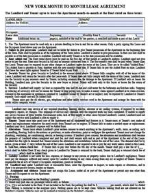 free new york month to month rental agreement pdf template