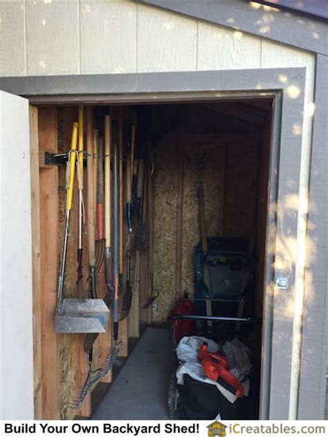 Interior Shed Walls by 4 215 8 Lean To Shed Plans With Door On End Built In Glendale