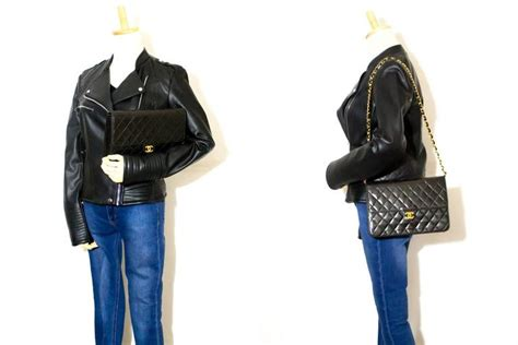 J Flap Bag With Chain Blue chanel chain shoulder bag clutch black quilted flap