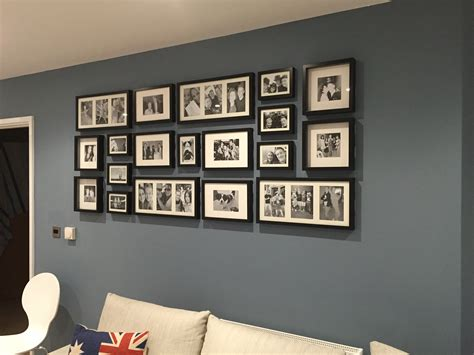 cornice ribba photo wall ikea ribba frames living room frame