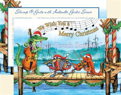 gulf coast louisiana cajun christmas cards