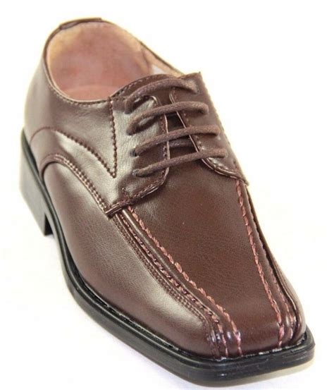 josmo boy s brown lace up dress shoes c61206 ebay