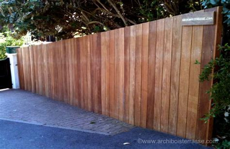 palissade et panneau cloture bois exotique sans entretien 27 78 76
