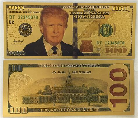new year dollar bill tradition president donald 999 24k gold plated us 100