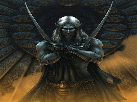 drizzt 016 hunters blades drizzt do urden wallpaper and background 1600x1200 id 114004