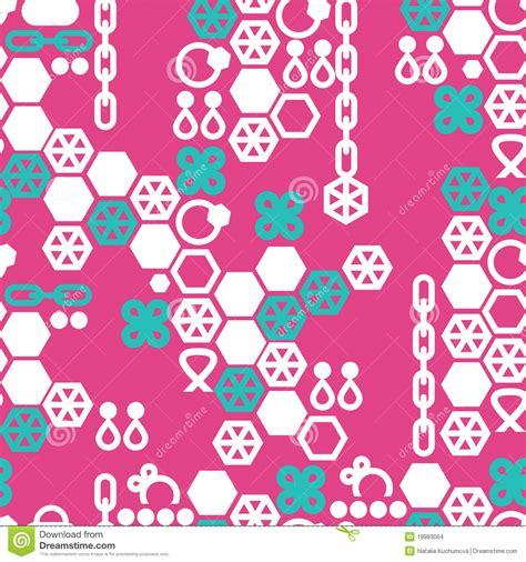 vector pattern jewelery vector seamless pattern of fashion jewelry stock images