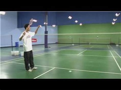 badminton swing technique badminton how to hit a high deep serve in badminton