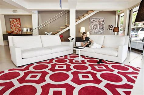 living room decorating design carpet or rug for living contemporary red rugs with white striped color also white