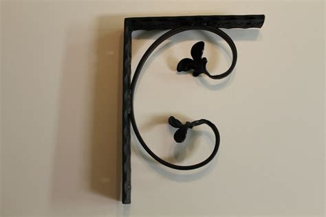 decorative wrought iron shelf brackets
