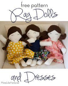 rag doll dress pattern simple rag doll patterns wee wonderfuls sewing rag