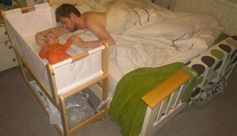 Baby Crib Attached To Bed Baby Bassinet Attaches To Bed Save Money And Safe Buylivebetter King Bed