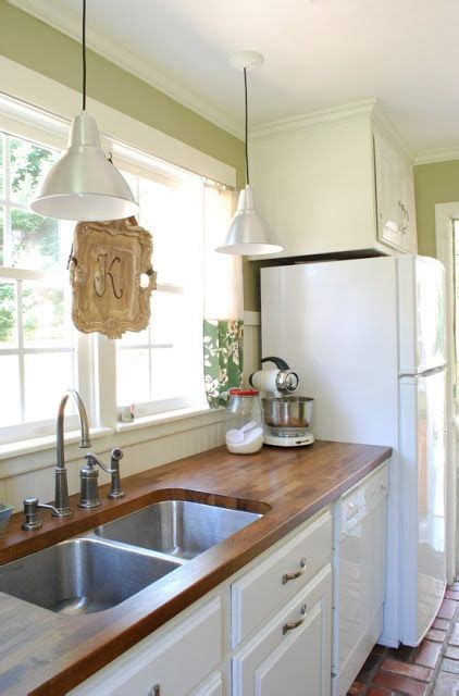 Butcher Block Countertops White Cabinets by Butcher Block Countertops With Silver Handles White