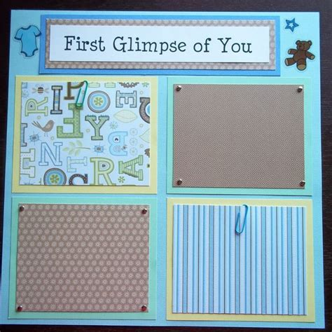 scrapbook layout for many pictures set of 30 12x12 premade scrapbook pages baby boy s 1st 12
