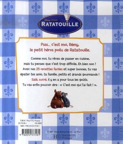Livre Ratatouille Les Recettes De R 233 My Tout Le Monde