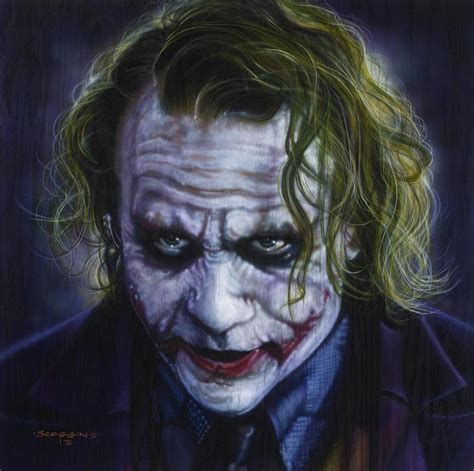 joker painting the joker painting by tim scoggins