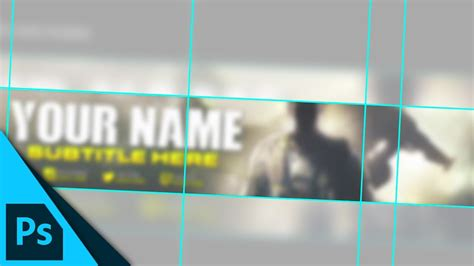 layout banner photoshop youtube banner layout guide template download