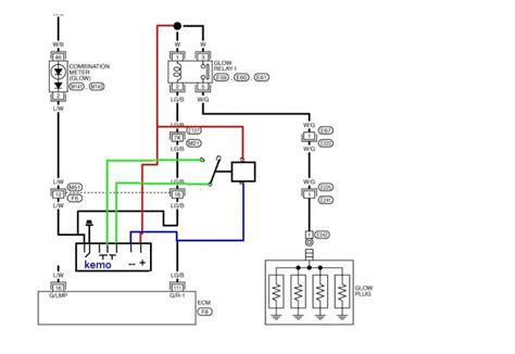 glow timer relay wiring diagram wiring diagram