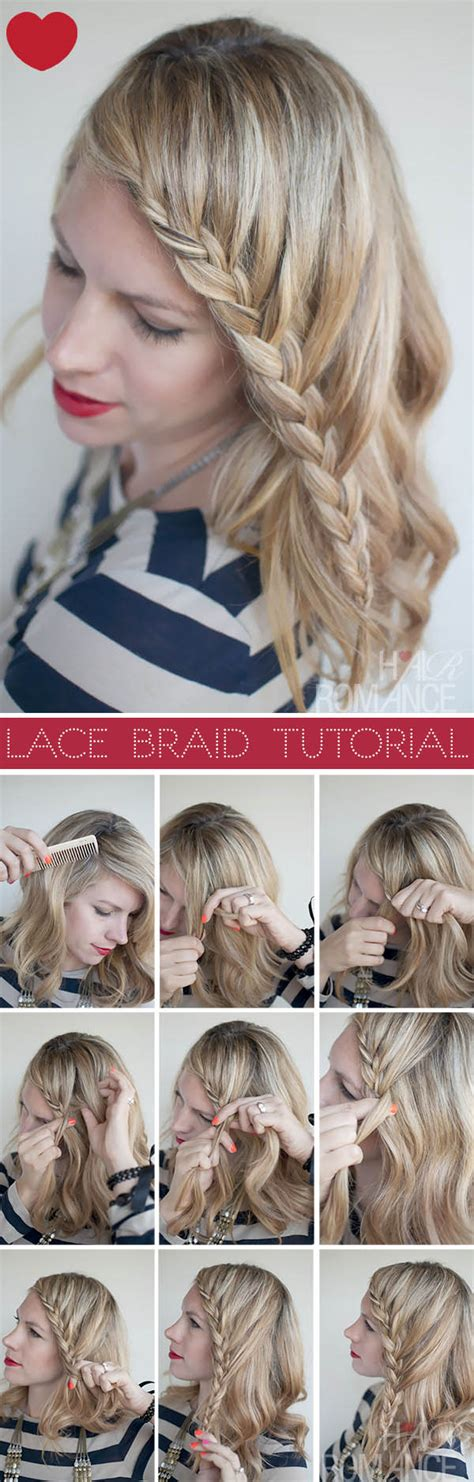 hairstyles braided tutorial lace braid hairstyle tutorial hair romance