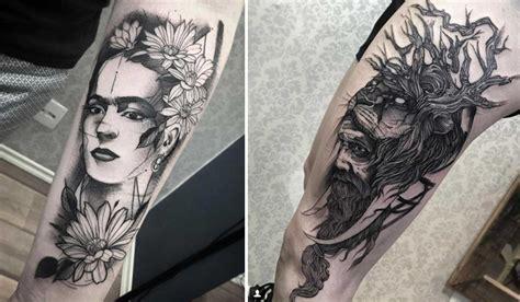 imagenes tatuajes blanco y negro 25 excelentes tatuajes en blanco y negro de fredao