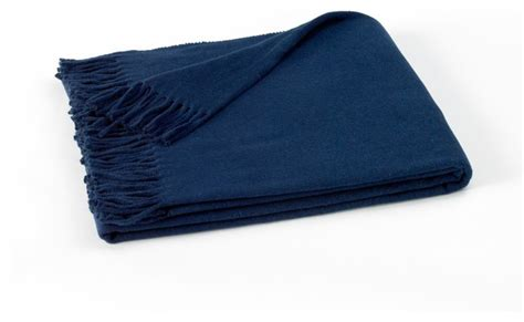 Bedroom Dividers Ideas deeep navy blue assiro solid throw contemporary throws