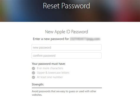 apple reset password how to change apple id