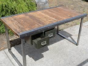 Industrial Office Desks Custom 5 Ft Industrial Office Desk Without Antique Drawer