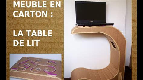 Table de lit en carton, Comment fabriquer un meuble en
