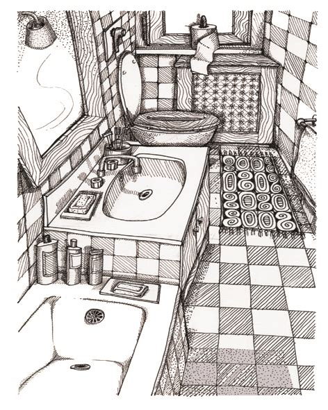 sketch of bathroom bathroom drawing www pixshark com images galleries with a bite