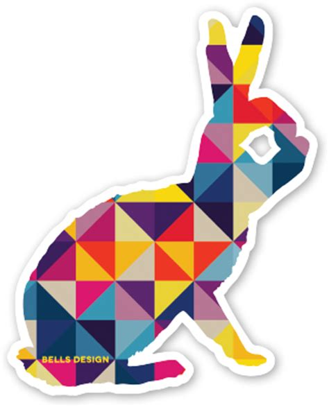 free design sticker online free bells design bunny stickers