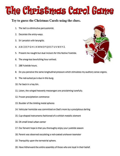 printable christmas music games guess the christmas carol printable pdf game instant