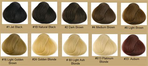 Types Of Color Hair by Hair Color Chart Qlassy Hair Extensions