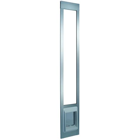 Patio Cat Door Shop E Cat Flap Small Silver Aluminum Sliding Pet Door Actual 9 In X 7 In At Lowes