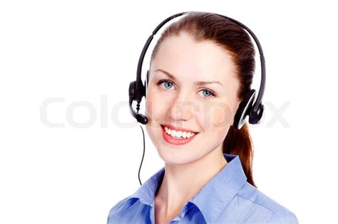 www housebeautiful customer service beautiful customer service operator with headset isolated on white background stock