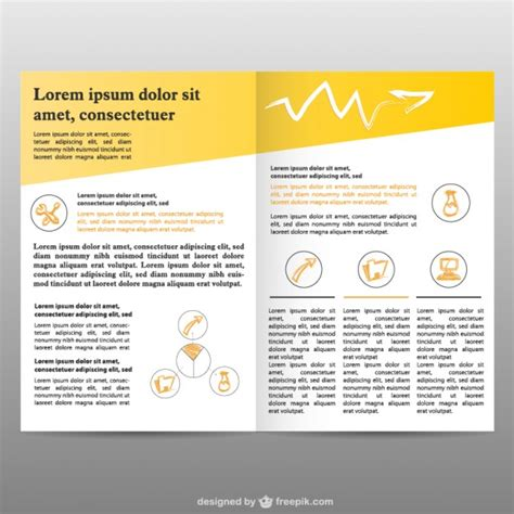 Brochure Pages Background Free Vector Free Download Pages Flyer Templates