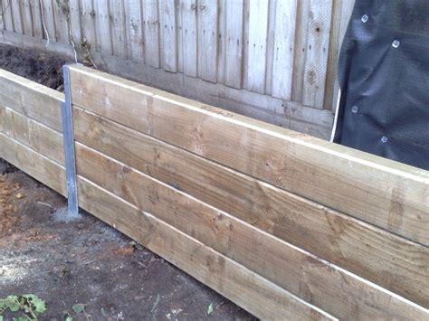 timber sheet pile wall timber retaining wall garden stuff