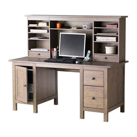 Hemnes Desk With Add On Unit Grey Brown Ikea Hemnes Desk
