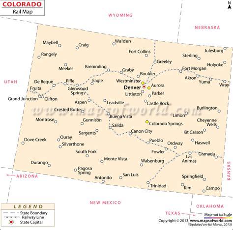 railroad map of colorado colorado railroad map routes in colorado