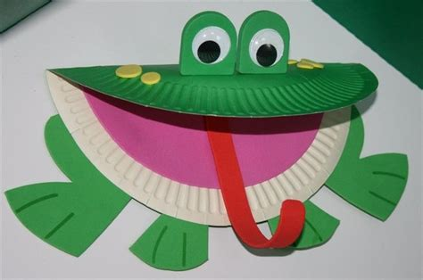 Paper Frog Craft - paper plate frog craft template search kid