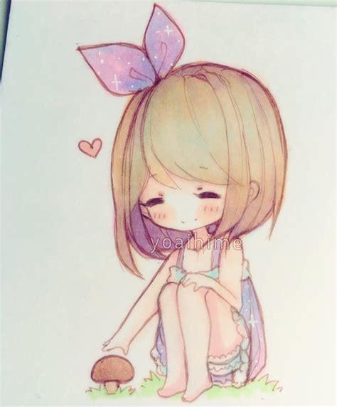 libro chibi girls a cute mushrooms are cute 180 ノ chibi sketch copic y o a i h i m e copic chibi