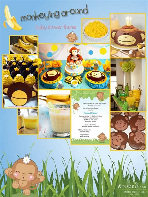 Monkey Boy Themed Baby Shower by 64 Best Baby Shower Ideas Monkey Theme Images On