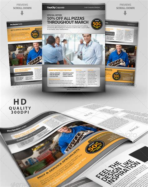 magazine ad template top corporate business flyer templates 56pixels