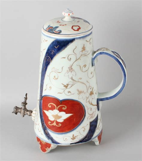 Decorated Fishing Urn by 19th Century Imari Porcelain Urn With Gold And Floral